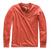The North Face Men ' S Long Sleeve Tnf Terry Henley - Caldera Red Heather