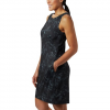 Columbia Women ' S Chill River Printed Dress - Black Rubbed Texture Print