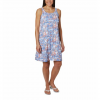 Columbia Women ' S Pfg Freezer Iii Dress - Impulse Blue Liberty Floral Print