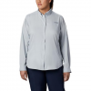 Columbia Women ' S Tamiami Long Sleeve Shirt ( Extended Sizes ) - Blue Macaw
