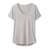 Prana W Foundation S / S V - Neck Tee - Light Grey Heather