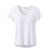 Prana W Foundation S / S V - Neck Tee - White