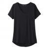Prana W Foundation S / S V - Neck Tee - Black