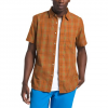 The North Face Men ' S Short Sleeve Hammetts Shirt Ii - Caramel Cafe Check Plaid