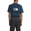 The North Face Men ' S Short Sleeve Red Box Tee - Blue Wing Teal