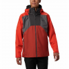 Columbia Men ' S Rain Scape Jacket - Tall - City Grey / Wildfire