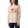 Columbia Women ' S Mount Rose Relaxed T - Shirt - Peach Cloud Heather