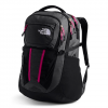 The North Face Women ' S Recon Backpack - Tnf Black / Spiced Coral