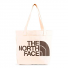 The North Face Cotton Tote - Weimaraner Brown Large Logo Print