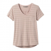Prana W Foundation S / S V - Neck Tee - Sparrow Heather Stripe
