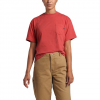 The North Face Women ' S Short Sleeve Relaxed Pocket Tee - Sun Baked Red