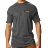 Mountain Hardwear Men ' S Classic Mhw Logo Short Sleeve T - Shirt - Heather Black