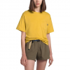 The North Face Women ' S Short Sleeve Relaxed Pocket Tee - Bamboo Yellow