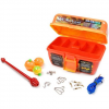 South Bend Worm Gear 88 - Piece Loaded Tackle Box Kit - Blk / Wht