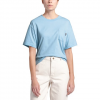 The North Face Women ' S Short Sleeve Relaxed Pocket Tee - Angel Falls Blue
