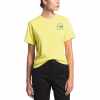 The North Face Women ' S Short Sleeve Logo Marks Tri - Blend Tee - Stinger Yellow