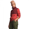 The North Face Women ' S Mountain Sweatshirt Pullover Anorak 3 . 0 - Barolo Red / Sunbaked Red