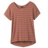 Prana W Foundation Slouch Top - Vino Heather Stripe