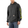 Carhartt M Mw Signature Sleeve Logo Hoodie - Carbon Heather