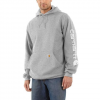 Carhartt M Mw Signature Sleeve Logo Hoodie - Heather Grey