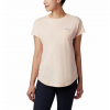 Columbia W Cades Cape S / S Tee - Peach Cloud