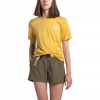 The North Face Women ' S Short Sleeve Logo Marks Tri - Blend Tee - Bamboo Yellow