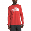 The North Face Men ' S Long Sleeve Half Dome Tee - Sun Baked Red