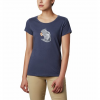 Columbia Women ' S Hidden Lake Crew Tee - Nocturnal / S ' Mores