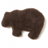 West Paw Design Gallatin Grizzly Dog Toy - Chocolate