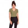 Volcom Women ' S Lived In Lounge Short Sleeve - Dusty Green