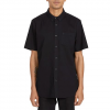 Volcom Men ' S Everett Oxford Short Sleeve Shirt - New Black