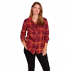Volcom Women ' S Getting Rad Plaid Long Sleeve Shirt - Zinfandel