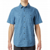 Mountain Hardwear Men ' S Conness Lakes Short Sleeve Shirt - Deep Lake Wave Print