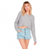Volcom Women ' S Take Me Far Away Pullover - Heather Grey