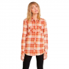 Volcom Women ' S Getting Rad Plaid Long Sleeve Shirt - Nutmeg