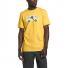 The North Face Men ' S Short Sleeve Outdoor Free Tee - Bamboo Yellow