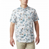 Columbia M Rapid Rivers Printed S / S Shirt - Cool Grey