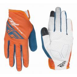 Fly Racing | Media Gloves Men's | Size XXX Large in Orange/Teal/White