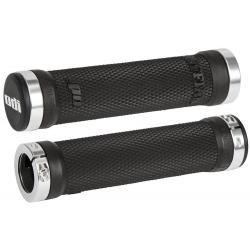 Odi Ruffian Lock on Grips Black W/ Silver Clamps