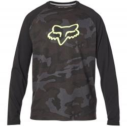 Fox Apparel   Tournament Camo LS Tech T-Shirt Men's   Size Small in Black Camo