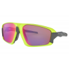 Oakley Field Jacket Cycling Sunglasses Men's in Yellow/Retina Burn