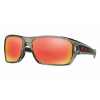 Oakley Turbine Cycling Sunglasses Men's in Grey INK W/Ruby Iridium Polarized