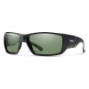 Smith Transfer Cycling Sunglasses Men's in Matte Black/Polarized Gray Green