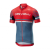 Castelli Free Ar 4.1 Jersey FZ 2019 Men's Size Small in Red/Light Steel Blue