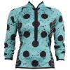 Shebeest Bellissima L/S Bike Jersey 2019 Women's Size Medium in Spray Dots/Agave
