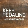 Jensonusa Keep Pedaling Decal Keep Pedaling - Die Cut Sticker