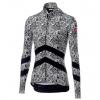 Castelli Goccia Women's Jersey FZ Size Extra Small in Black/White
