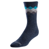 Pearl Merino Thermal Sock Men's Size Small in Navy/Teal Solitaire