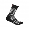 Castelli Safari 15 Sock Men's Size Small/Medium in Zebra Black/White