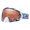 Oakley Mayhem Pro TLD Edition MX Goggles Men's in Red White and Blue/Prizm Black Iridium